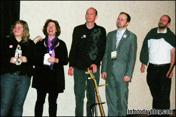 The Contestants (L-R): Amy Buckland, Nancy Dowd, David Lee King, Michael Porter, and Greg Schwartz