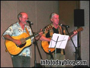 While the judges were selecting the winner, a musical interlude was provided by Richard Geiger and Tim DeWolf