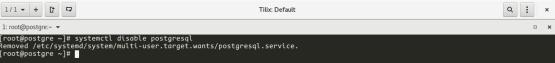 Desactivar el inicio del servicio postgresql con el sistema operativo