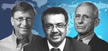 Gates, Fauci e il presidente dell'Oms