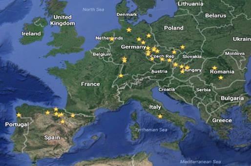 Lugares con residuos de lindano, según el informe presentado al Parlamento Europeo
