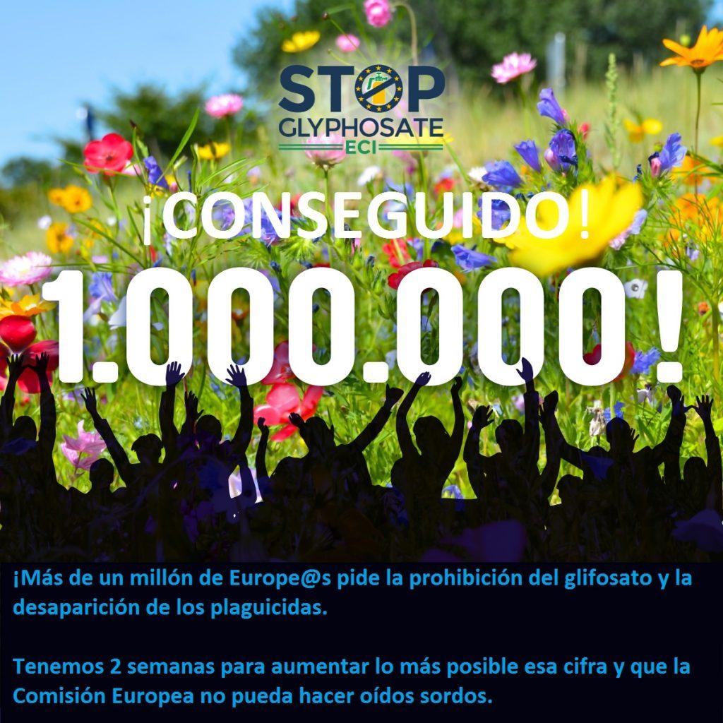 1 millón firmas glifosato