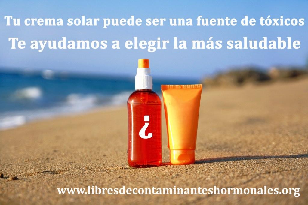 filtros solares sin disruptores endocrinos