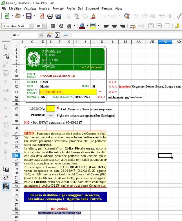 Calcolatore Codice Fiscale Image