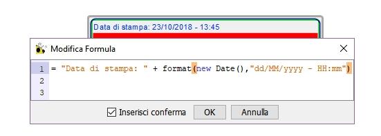 Inserire formule nelle mappe di Freeplane: data e ora