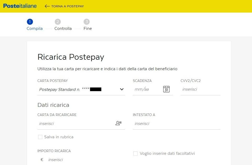 Ricaricare Postepay Tutte Le Modalità Libretto Di Risparmio