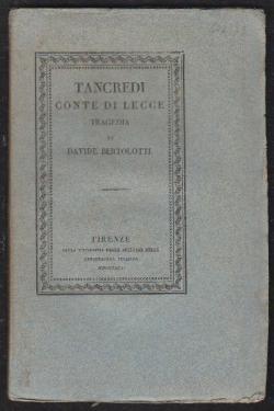 Tancredi Conte di Lecce. TRAGEDIA