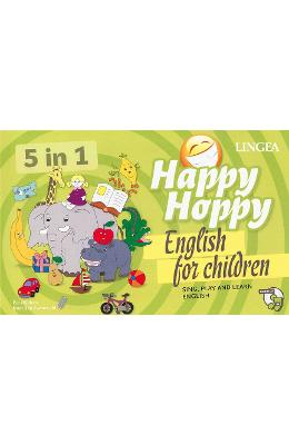Happy Hoppy, English for children 5 in 1: Sing, play and learn english