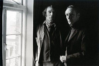 Con Brion Gysin en su piso de Londres, 1973. © Gerard Malanga.