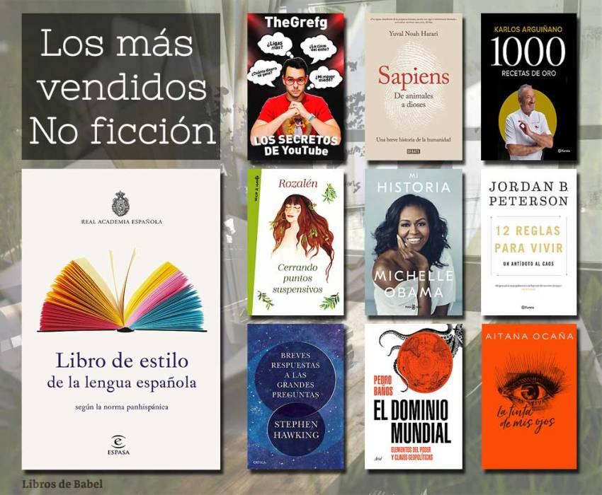 Libros más vendidos - No ficción - 02 diciembre 2018