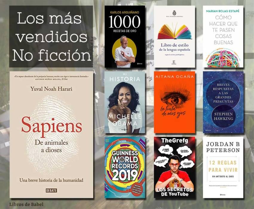 Libros más vendidos - No ficción - 09 diciembre 2018