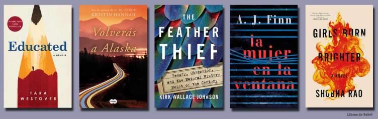 Los mejores libros de 2018 en Amazon, por ahora (I)