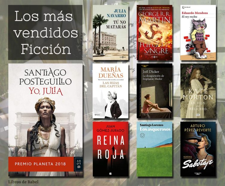 Libros más vendidos 06 de enero - Ficción