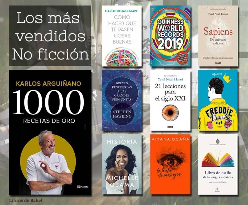 Libros más vendidos 6 de enero - No ficción