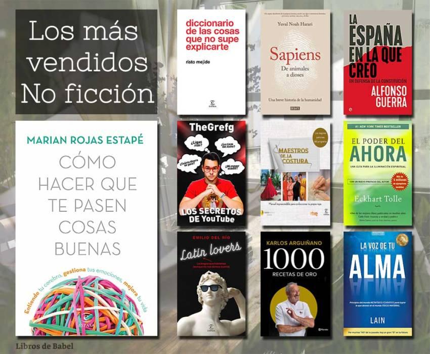 Libros más vendidos 17 febrero 2019 - No Ficción