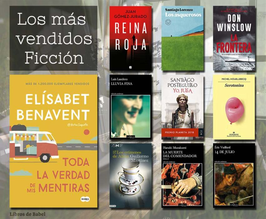 Libros más vendidos - 03 de marzo de 2019 - Ficción