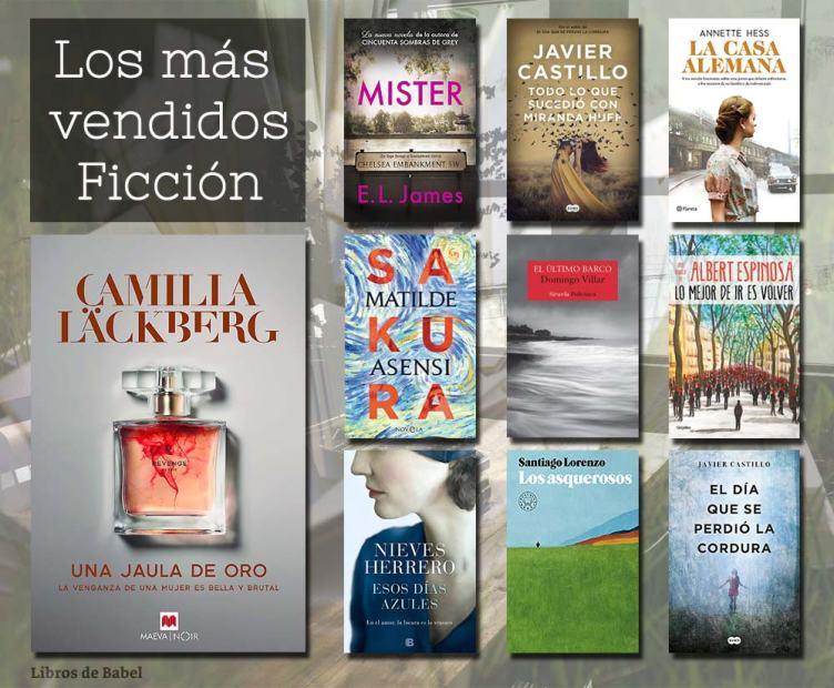 Libros más vendidos - 12 mayo 2019 - Ficcion