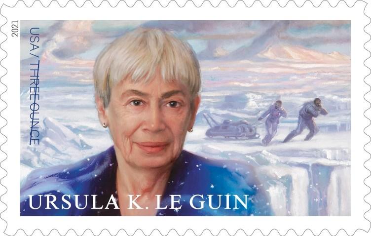 El sello de correos dedicado a Ursula K. Le Guin