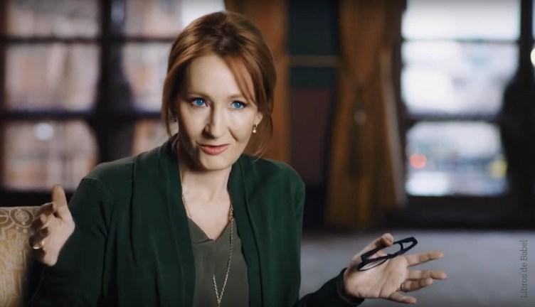 La escritora J. K. Rowling durante una entrevista