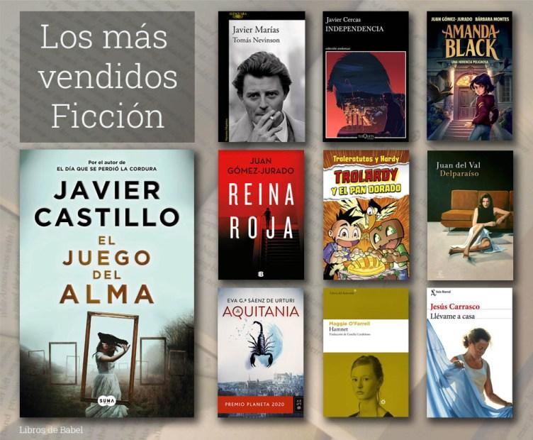 Libros más vendidos de ficción en España