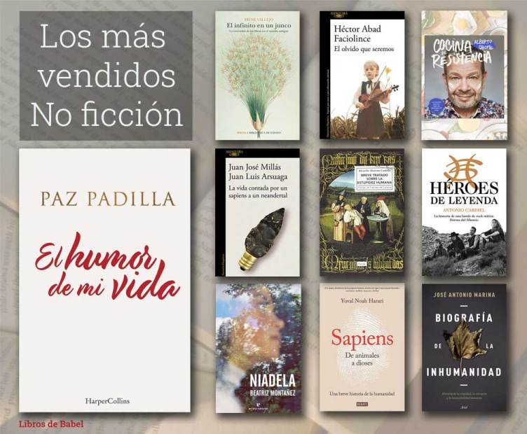 Portadas de los libros más vendidos en España del 3 al 9 de mayo de 2021.