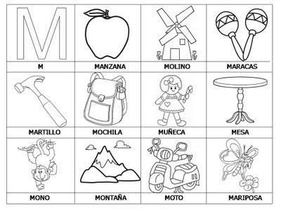 Aprender a leer - primeras palabras - M