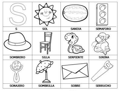 Aprender a leer - primeras palabras - S
