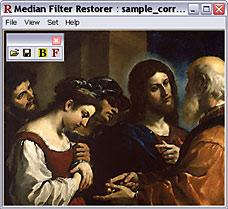 Image restored by median filter - screenshot
