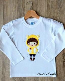 Camiseta manga larga personalizada.