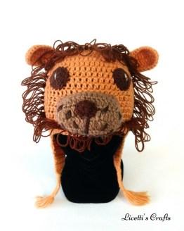 Gorro lana alpaca león