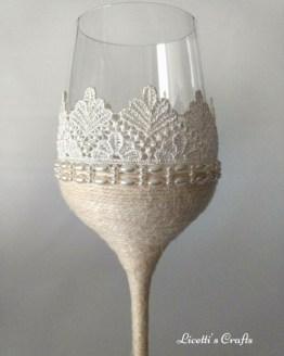detalle copa decorada vintage
