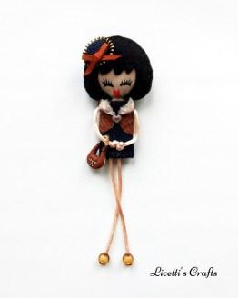 Muñeca en fieltro Olivia