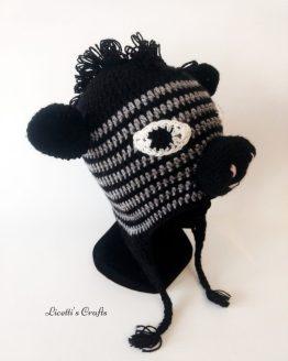 Gorro lana alpaca cebra