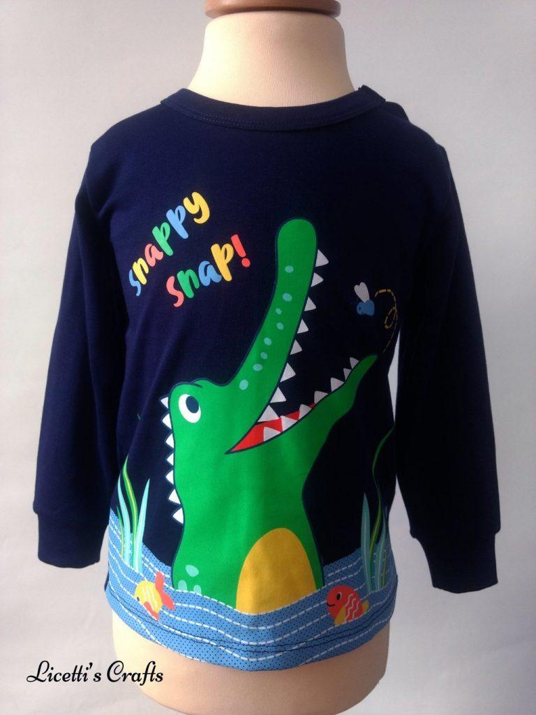 camiseta bebé manga larga algodón pima cocodrilo