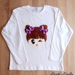 camiseta manga larga hecha a mano kawaii