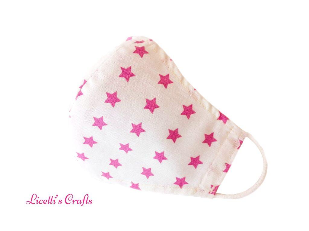 mascarilla higienica reutilizable estrella rosa