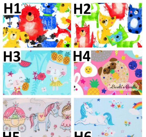 tejidos para artesanía personalizada unicornios gatos kawaii