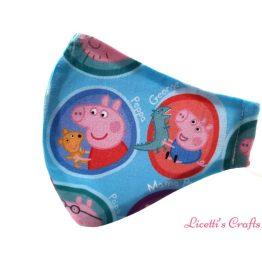 mascarilla reutilizable tela Peppa Pig