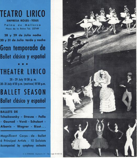 1966-07-28 al 31-Teatro Lirico - Palma de Mallorca - ballet clásico y español-ballet del liceo