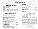 1966 - Teatro Principal de Zaragoza - programa-La noche de walpurgis-tapices de goya-la moza y el estudiante