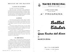 1966 - teatro Principal de Valencia - 2º programa-La danza de las horas-gaviotas-el amor brujo