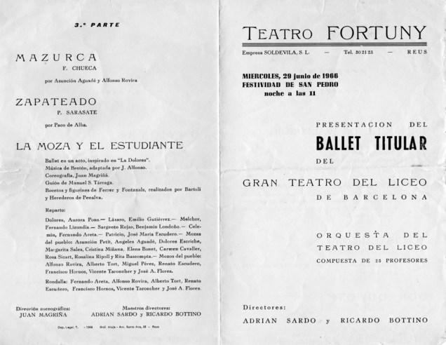 1966-06-29-Teatro Fortuny de Reus - programa : 3ª parte-mazurca-la moza y el estudiante