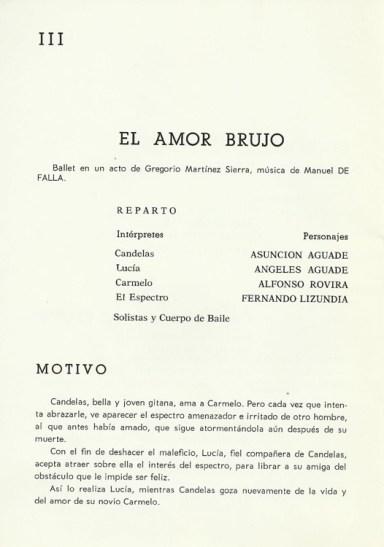 1968 - Lloret de Mar - festival de verano - programa III-el amor brujo