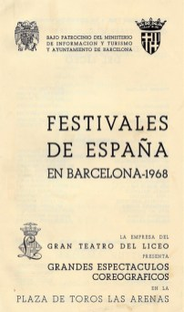 1968 - Plaza de Toros las Arenas - Festivales de España - portada