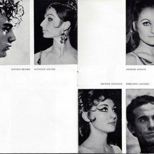 1969 - Gran Teatro del Liceo - Temporada de opera - reparto-ballet del liceo
