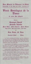 1978 - Vilanova i la Geltrú - Visió Antològica de la Dansa del mestre Joan Magrinyà