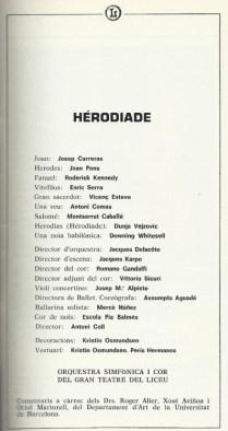 """1983 - """"Herodiade""""- G. Teatro del Liceo"""