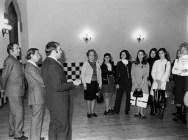 1970 - visita del ballet del Liceu(Antics alumnes ) amb el director Hermann Bonnin i Llinàs-C. Pujol, ,,,J. Magriñà