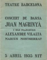 1935 - Teatre Barcelona - Concert de Dansa