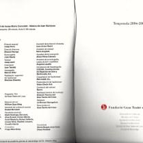 "2004-05 Programa de temporada del Liceu - ""GAUDI"" de Joan Guinjoan"